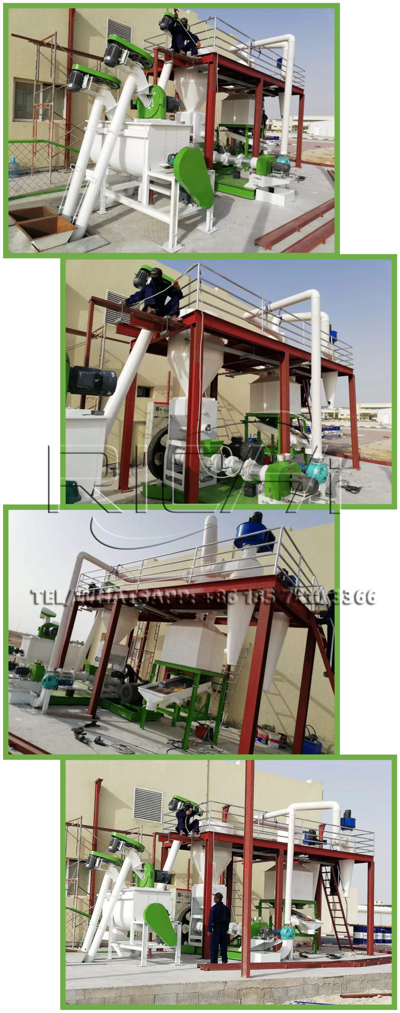 1-1.2tpg fish feed production line