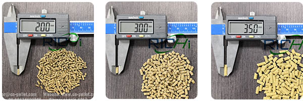 feed pellets size